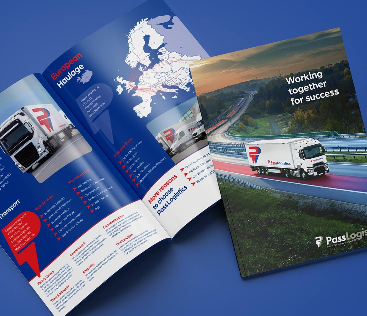 design for a folder for parcel pass transport